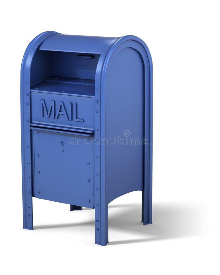 Caixa postal azul ilustração do vetor