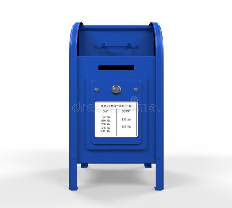 Caixa postal azul ilustração stock
