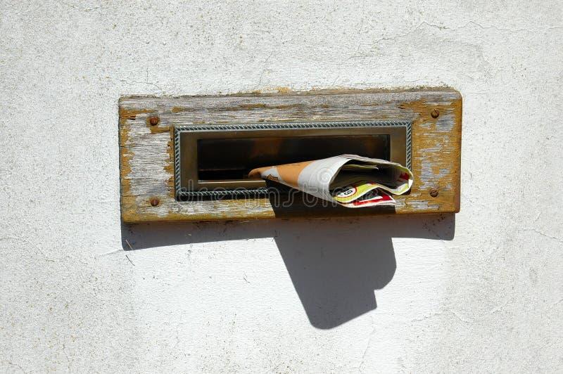 Caixa postal cheia fotografia de stock royalty free