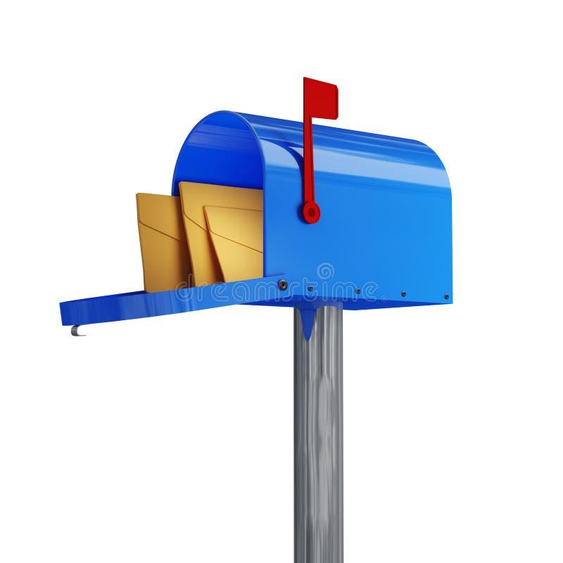 Caixa postal clássica ilustração stock