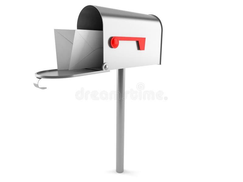Caixa postal com envelopes ilustração stock