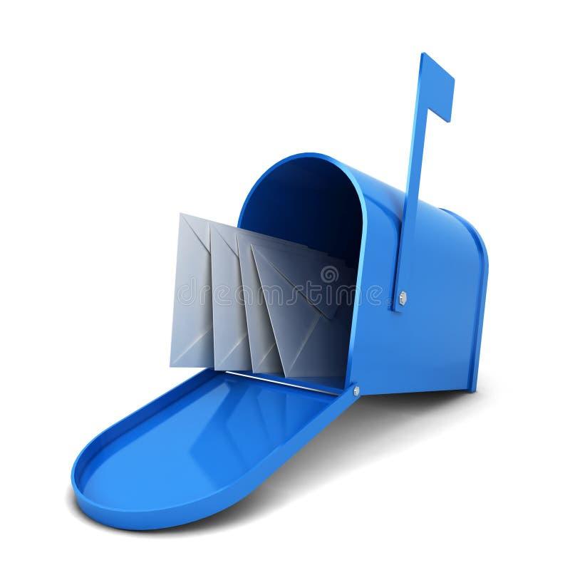 Caixa postal com letras ilustração do vetor