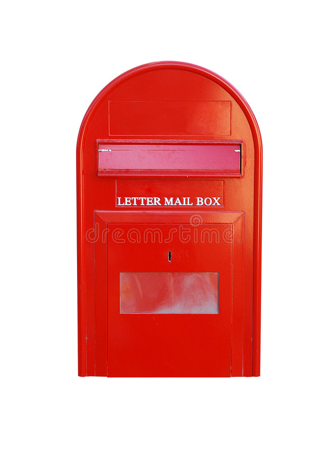 Caixa postal da letra fotografia de stock