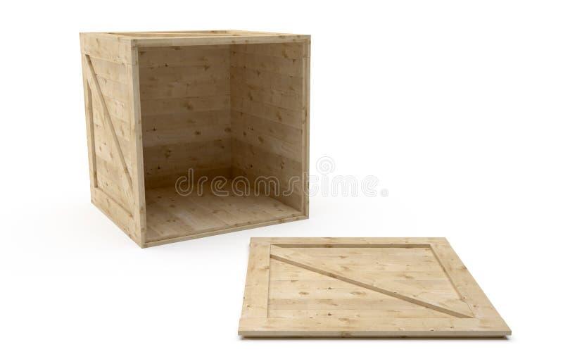 Download Caixa postal de madeira ilustração stock. Ilustração de crate - 16867881