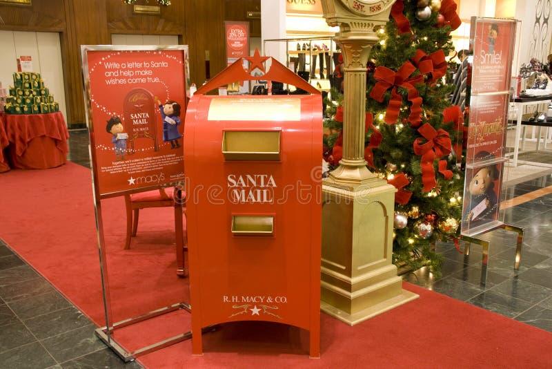 Caixa postal de Santa em Macys Seattle imagens de stock royalty free