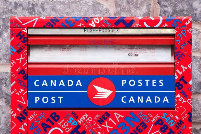 Caixa postal do cargo de Canadá imagens de stock