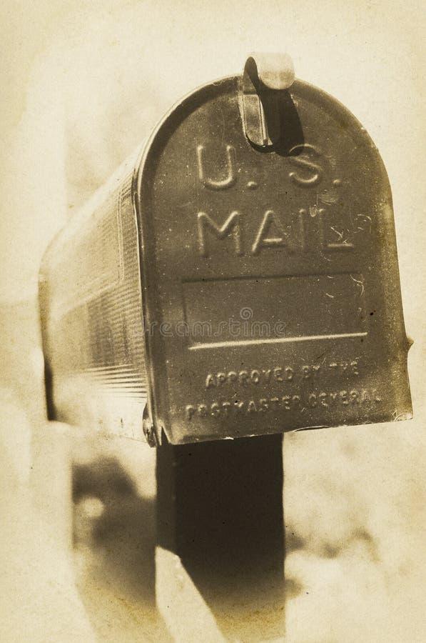 Caixa postal dos E.U. do vintage fotos de stock