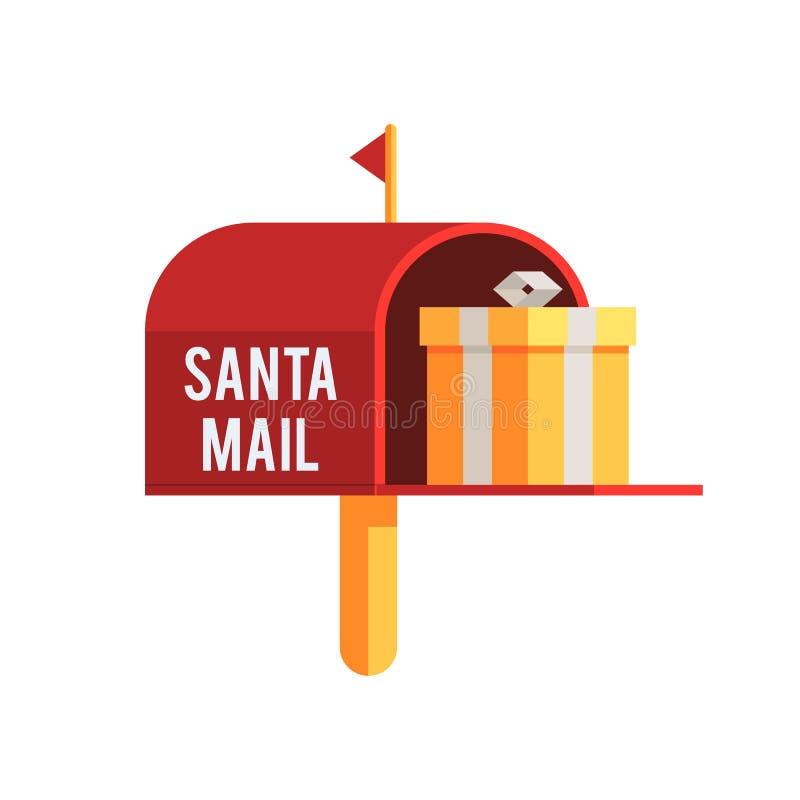 Caixa postal exterior do Natal ilustração do vetor