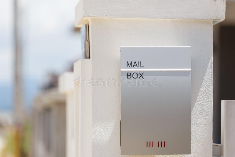 Caixa postal para a letra fotos de stock