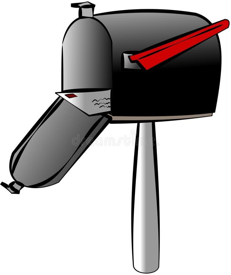 Caixa postal rural ilustração stock
