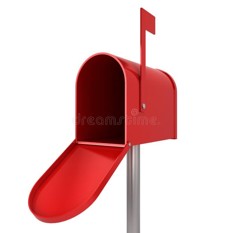 Caixa postal vazia ilustração stock
