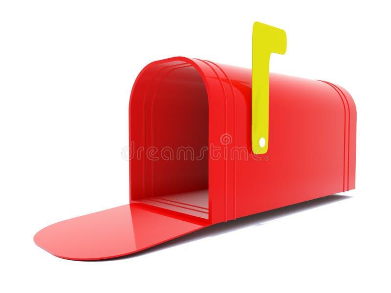 Caixa postal vermelha vazia ilustração stock