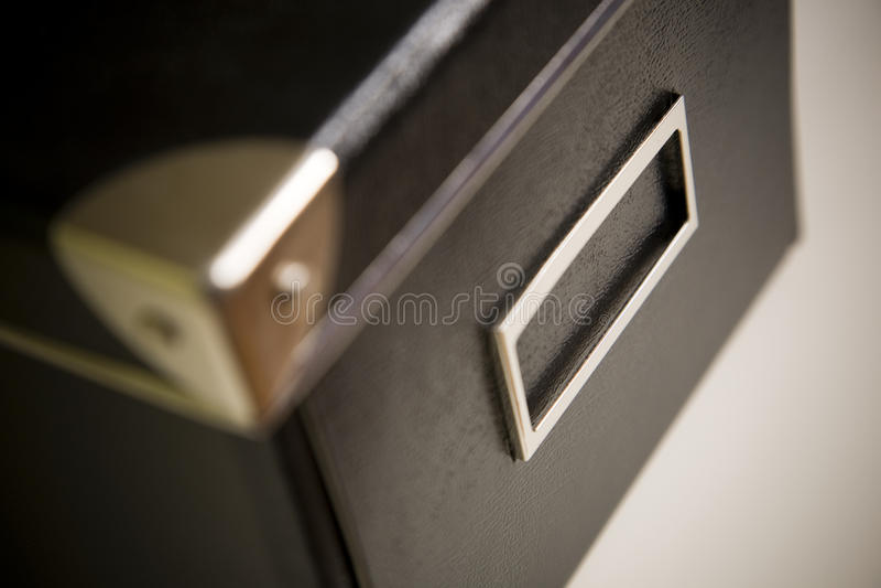 Caixa preta corporativa do arquivo foto de stock