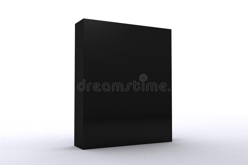 Caixa preta do pacote de software foto de stock royalty free