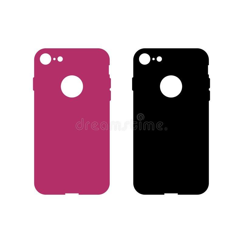 Caixa protetora para o telefone celular ilustração stock
