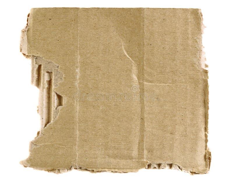 Caixa rasgada Textured foto de stock royalty free