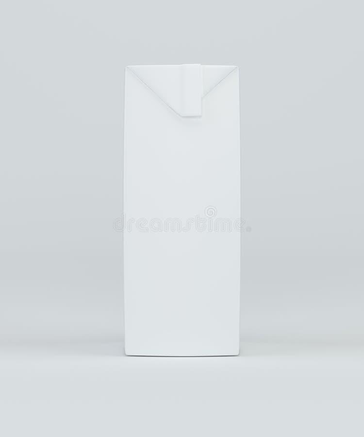 Caixa realística de suco Pacote da caixa rendição 3d ilustração royalty free