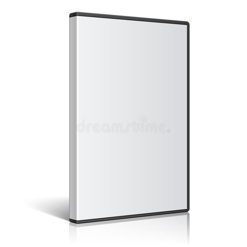 Caixa realística fresca para o disco de DVD ou de CD Vetor ilustração stock