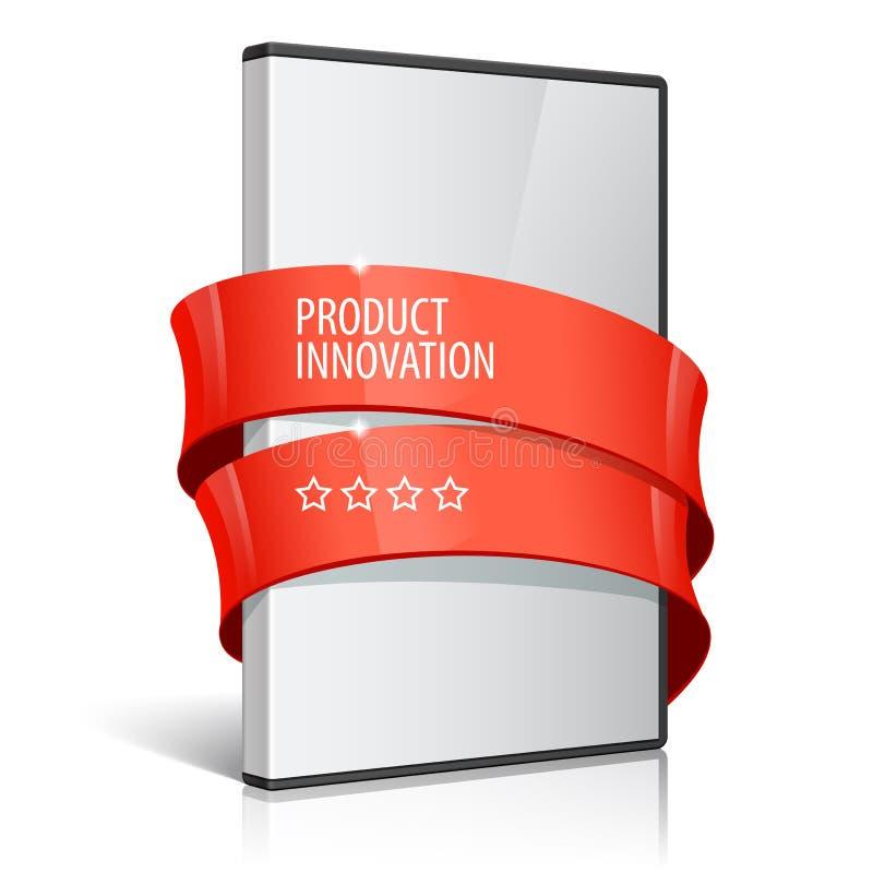 Caixa realística para DVD ou o disco CD ilustração royalty free
