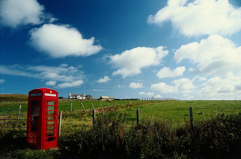 Caixa rural do telefone