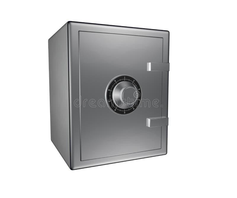 A caixa segura de aço 3D rende fotografia de stock