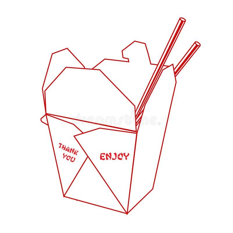Caixa takeout chinesa imagens de stock