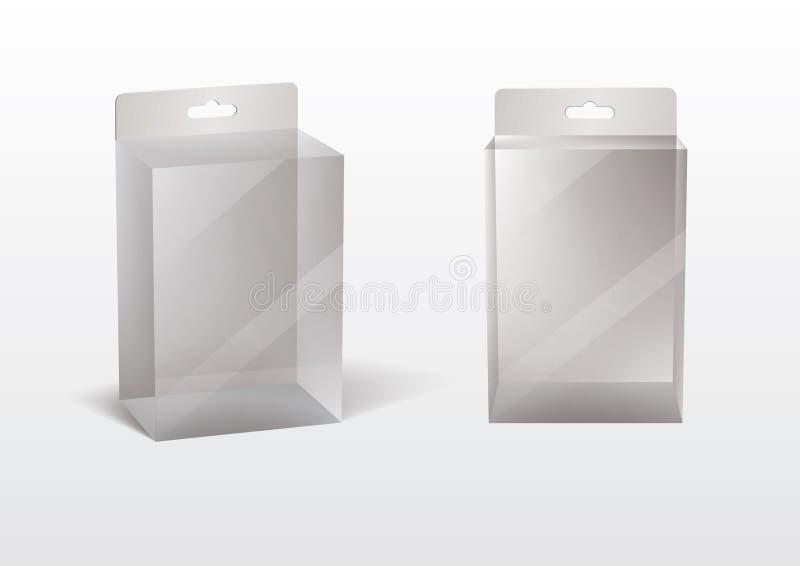 Caixa transparente ilustração royalty free
