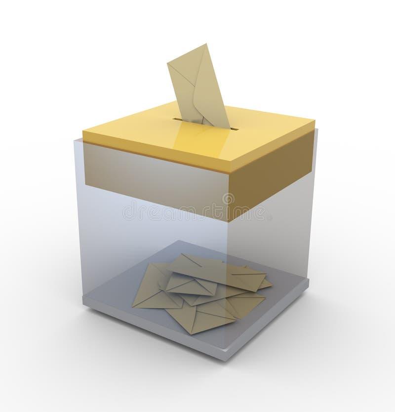 Caixa transparente com envelopes ilustração royalty free