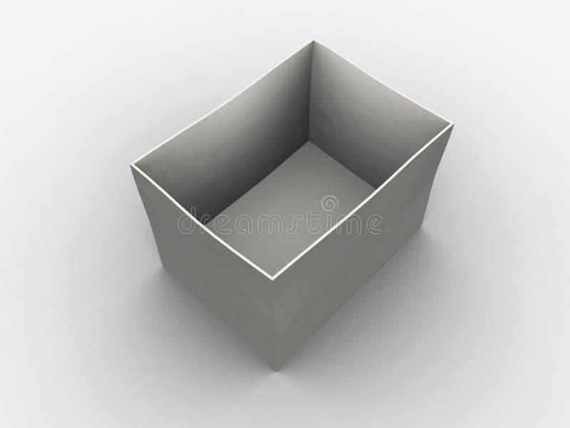 Download Caixa vazia branca ilustração stock. Ilustração de escritório - 529054