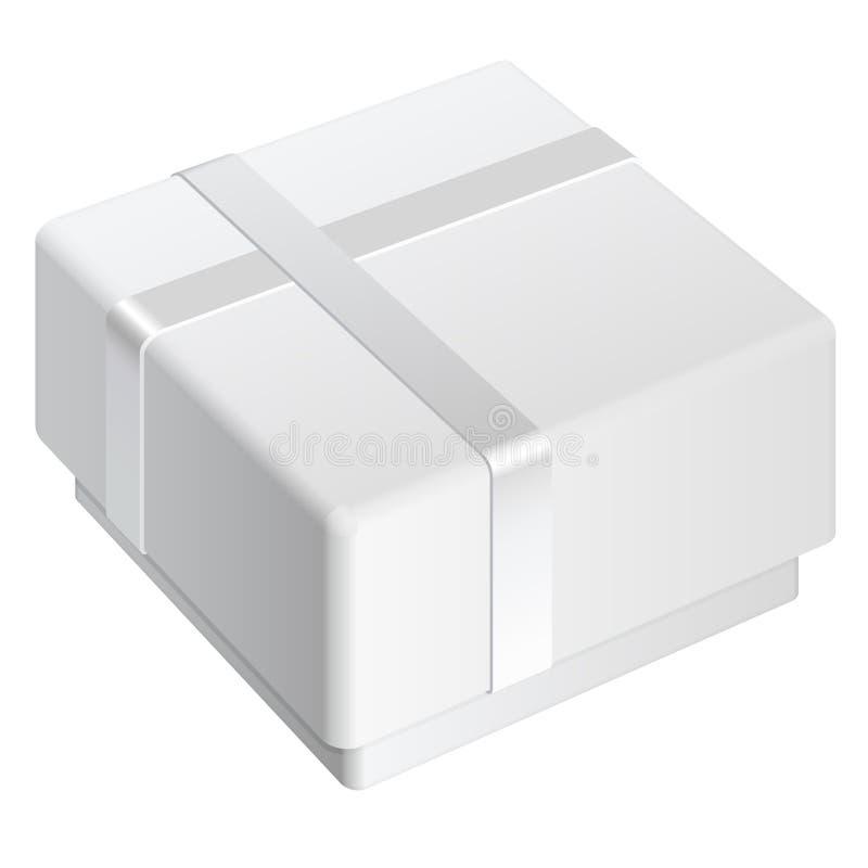Caixa vazia branca do pacote. Para o presente ilustração stock