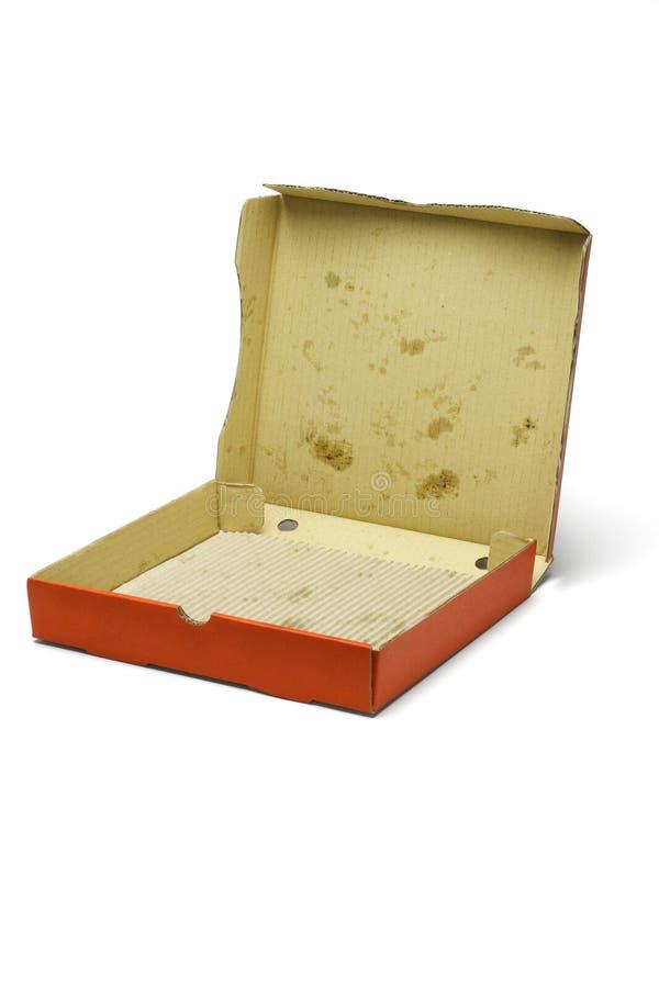 Caixa vazia da entrega da pizza fotografia de stock
