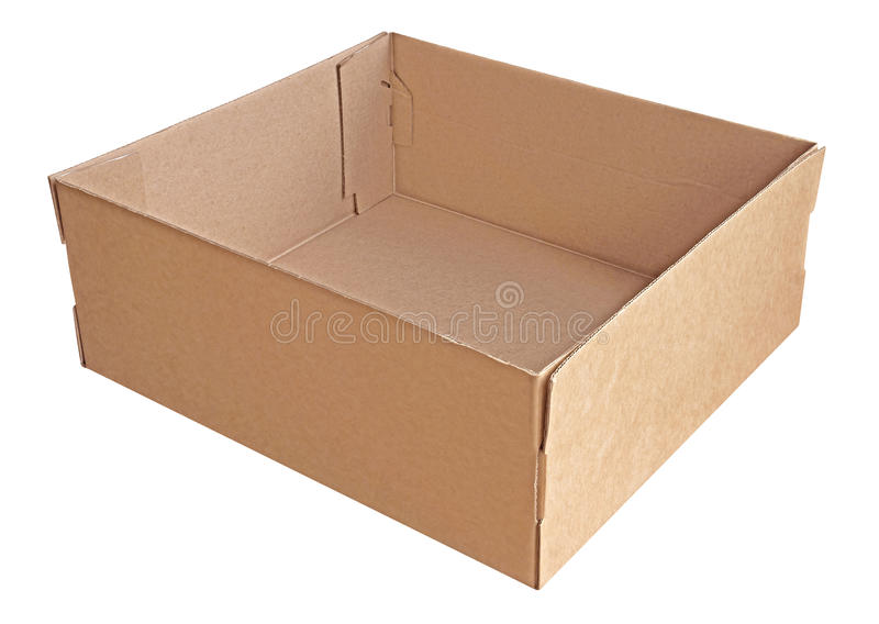 Caixa vazia do cargo foto de stock