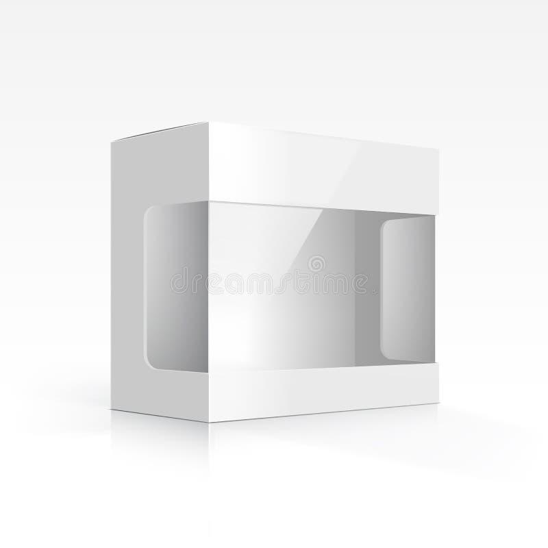 Caixa vazia do vetor com janela transparente ilustração stock