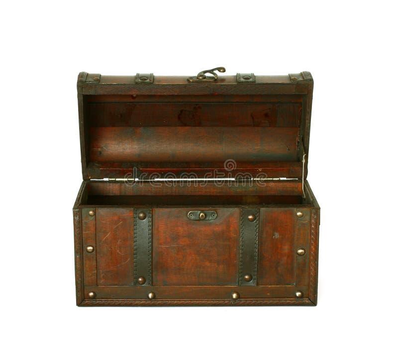 Caixa velha isolada em um branco fotografia de stock royalty free