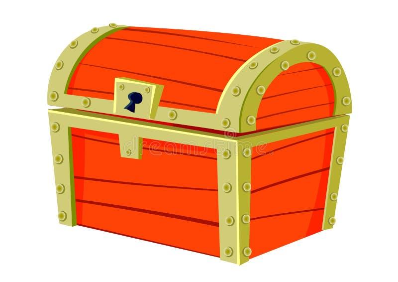 Caixa velha vermelha ilustração royalty free