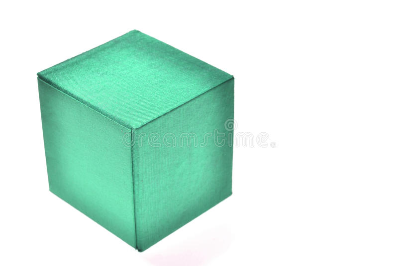 Caixa verde isolada foto de stock royalty free