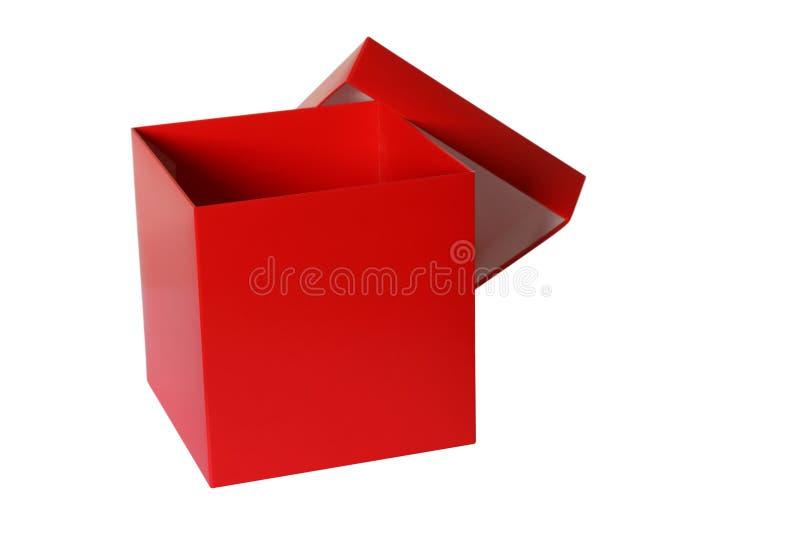 Caixa vermelha imagens de stock