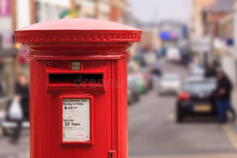 Caixa vermelha do borne fotografia de stock