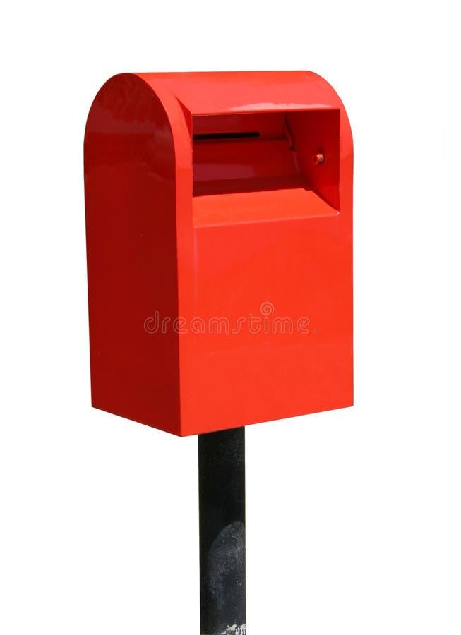 Caixa vermelha do borne foto de stock