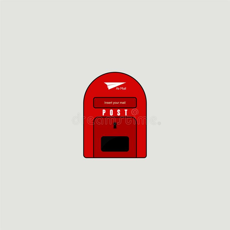 Caixa vermelha do cargo da pasta ilustração royalty free