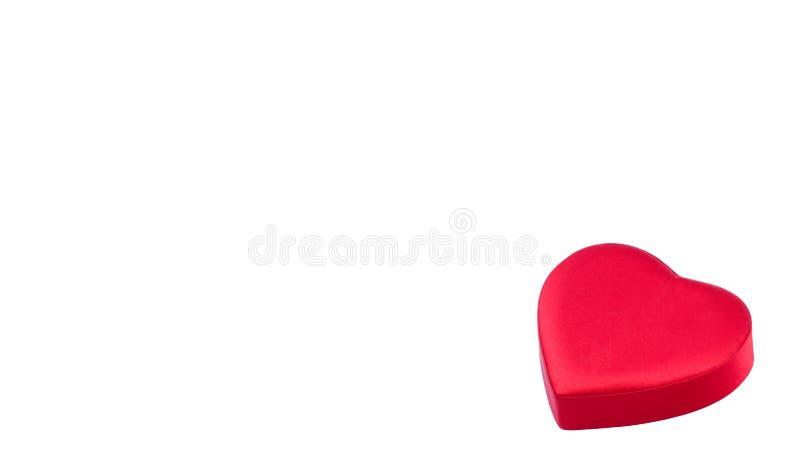Caixa vermelha na forma do coração imagem de stock
