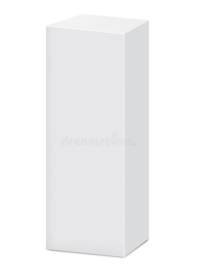 Caixa vertical vazia ilustração stock