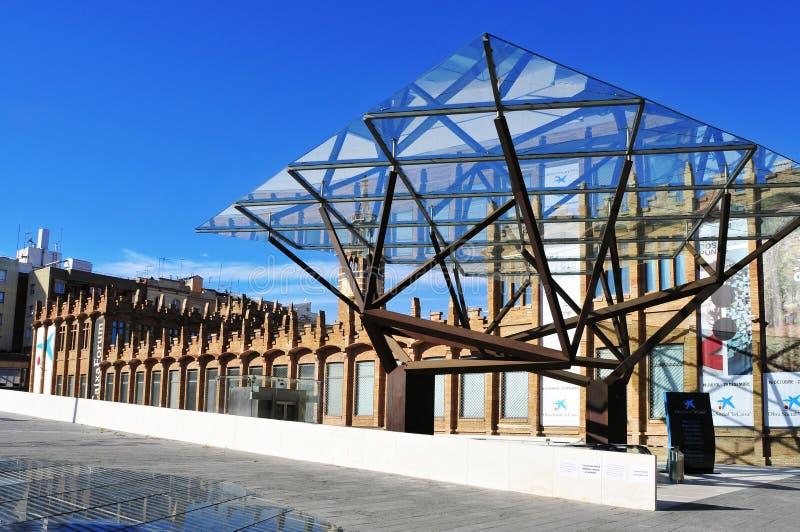 CaixaForum Barcelona, en Barcelona, España imagen de archivo libre de regalías