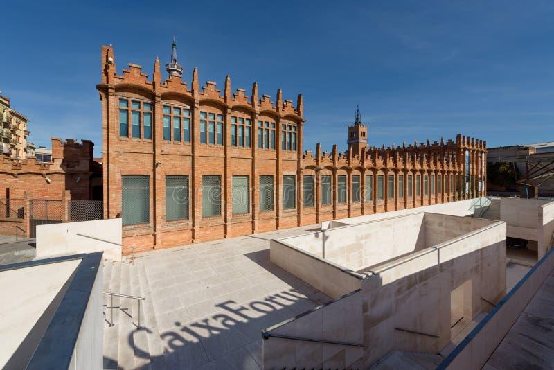 CaixaForum Barcelona, Spanje stock foto's