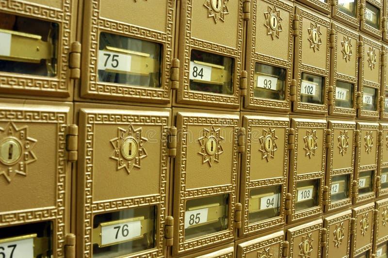Caixas 1 do correio foto de stock