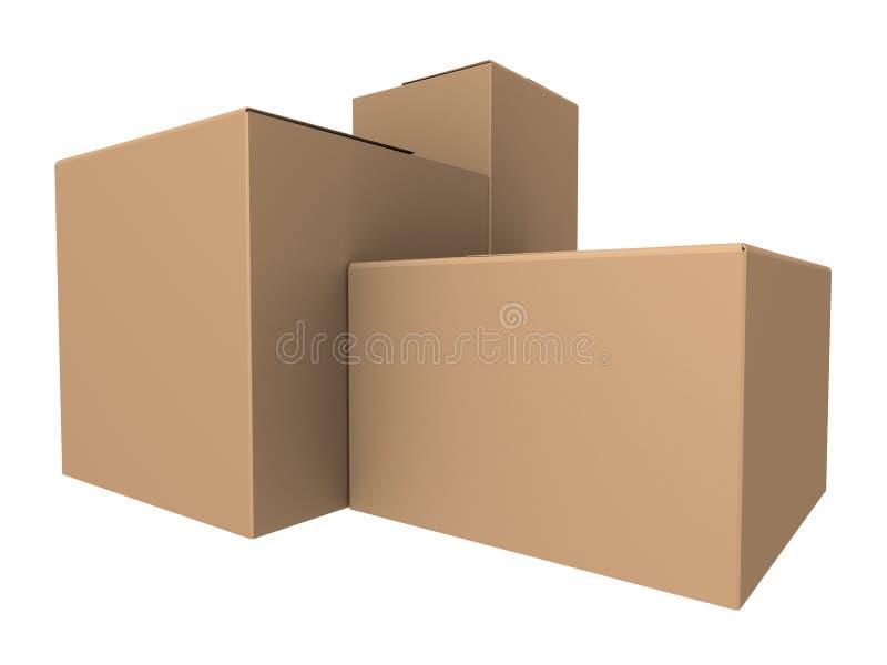 Caixas ilustração stock
