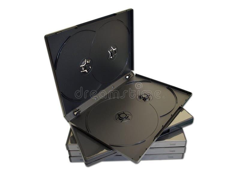 Caixas CD imagem de stock royalty free