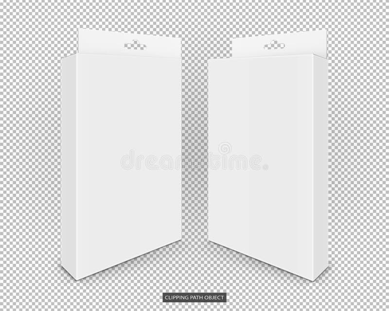 Caixas cosméticas do cartão do Livro Branco fotografia de stock