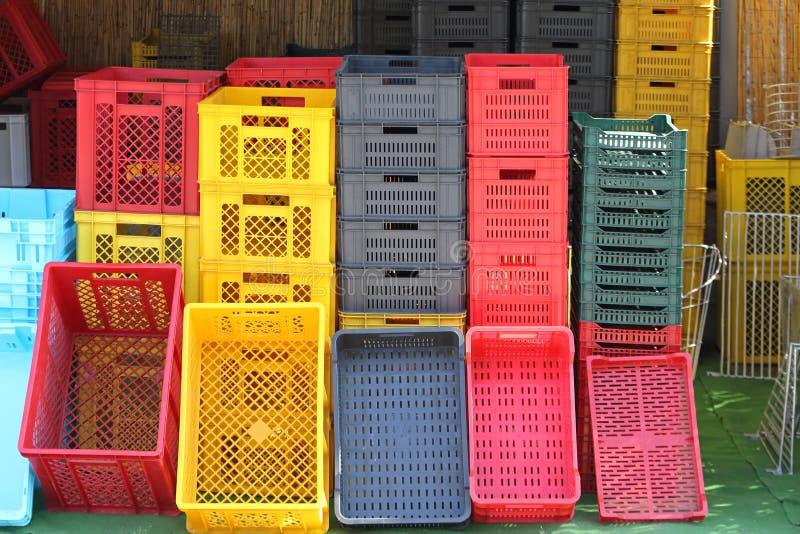 Caixas da agricultura fotos de stock