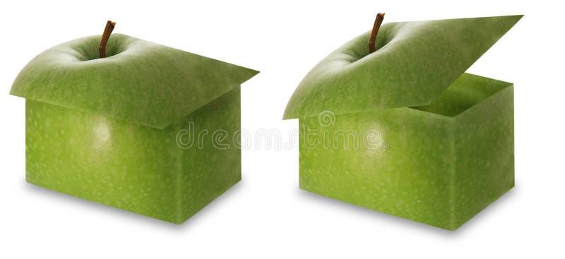 Caixas de Apple imagem de stock